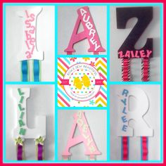 Hair Bow Holder, Initial Hair Bow Holder, Customized Hair Bow Holder, Letter Hair Bow Holder, - pinned by pin4etsy.com