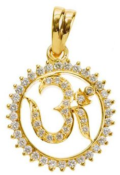 Gold om pendant 22k jewelry pinterest om pendant pendants and buy real certified diamond 1 ct solid gold religious om pendants khannajewels aloadofball Image collections