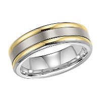 Titanium and 18K Gold 7mm Comfort-Fit Band - Sam's Club