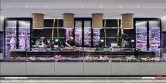 La Grande Epicerie by interstore design + inhouse design team bon marché Bakery Cafe, Cafe Restaurant, Restaurant Design, Butcher Store, Local Butcher Shop, Blog Architecture, Grande Distribution, Meat Shop, Retail Boutique