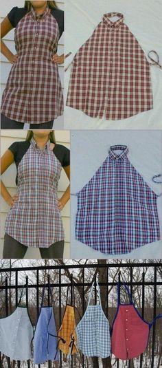 Фартук из рубашки