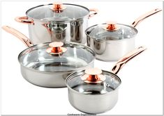 Sunbeam 91345.08 Ansonville 8-Piece Cookware Set, Silver/Copper** Check this awesome product by going to the link at the image.(It is Amazon affiliate link) #cookwareorganization