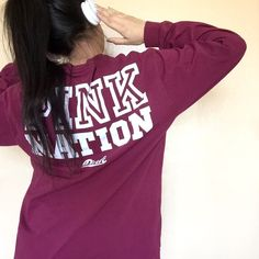• Pink Nation Varsity Crew • Rep your PINK spirit with this sweatshirt! Offers through button and no trades❌ PINK Victoria's Secret Tops Sweatshirts & Hoodies