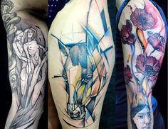 30 of the Best Graphic Tattoo Artists - Tattoodo.com - @Amanda Elizabeth there's an awesome tree watercolor one!