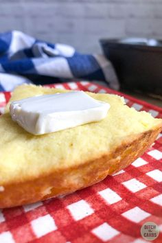 Yum! This keto cornbread is perfect for chili or turn it into stuffing! #ketocornbread #cornbread #lowcarbcornbread Low Carb Donut, Low Carb Keto, Keto Corn Bread, Keto Cornbread Recipe, Easy Dinner Recipes, Easy Meals, Keto Stuffing, Ditch The Carbs, Low Carb Side Dishes