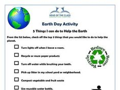 Earth Day Activities, Turn Light, Planets, Thing 1, Plants
