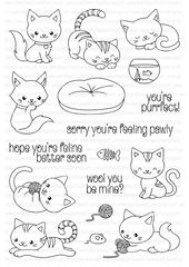 You're Purrfect   Clearly Besotted Stamps