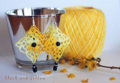 Orecchini uncinetto earring and jellow