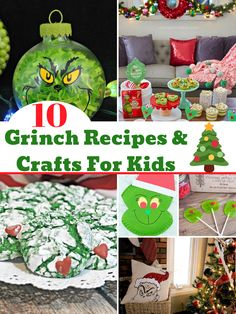 These are the EASY Grinch recipes & crafts that are perfect for the kids! Make them as a fun holiday treat and watch the movies. Grinch Christmas, Christmas Photos, Christmas Baking, Christmas Crafts, Christmas Ideas, The Grinch Movie, Grinch Ornaments, Sister Crafts, Crafts For Kids To Make