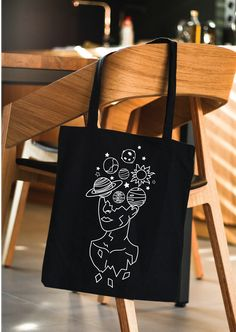 Welcome to All Day US - Find Cotton and Organic Cotton Tee shirt for men, women and children. Diy Tote Bag, Tote Bags Handmade, Cute Tote Bags, Printed Tote Bags, Canvas Tote Bags, Canvas Totes, Diy Canvas Art, Diy Embroidery, Gifts