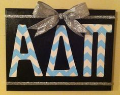 ADPi Chevron Canvas on Etsy