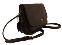 13bb820591d62 Vintage Coach City Bag Style No 9790 in Whiskey Brown Leather Crossbody  Flap Messenger Made in USA