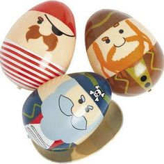 Plastic Pirate Eggs - 12 Pack Party Supplies Canada - Open A Party Cool Easter Eggs, Plastic Easter Eggs, Easter Egg Crafts, Pirate Party Supplies, Open A Party, Easter Egg Designs, Easter Ideas, Easter Recipes, Egg Carton Crafts