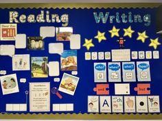 Year 1 Classroom, Early Years Classroom, Eyfs Classroom, Classroom Displays, Classroom Ideas, Literacy Display, Reading Display, Preschool Reading Area, Reading Areas