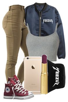 """01:08:15"" by diggysimmion ❤ liked on Polyvore featuring Converse and Too Faced Cosmetics"