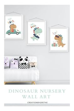 Are you looking for an easy, affordable and convenient way to decorate your child's room then you're in the right place. This dinosaur print set is the perfect pieces that will add the finishing touch to your child's room or nursery. Kids Room Design, Nursery Design, Nursery Prints, Kids Room Paint, Kids Room Wall Art, Room Art, Playroom Wall Decor, Baby Room Decor, Nursery Decor