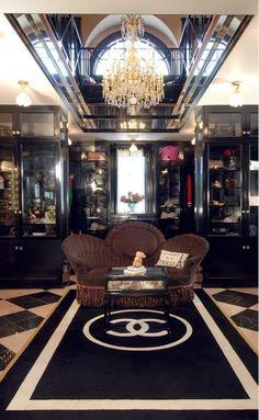 master dressing room ala chanel style!