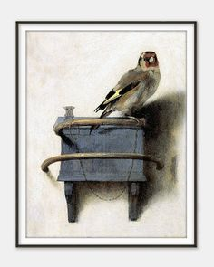 The Goldfinch Het Puttertje by Carel Fabritius by QuantumPrints