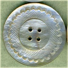 Carved Mother of Pearl Shell Coat Sewing Buttons
