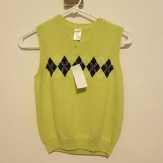 Boys Green Sweater Vest Brand new never worn lime green sweater vest. Gymboree Tops
