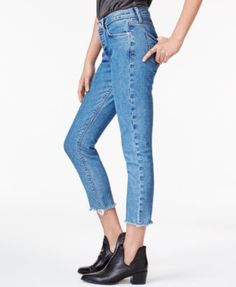 Hudson Jeans Cropped Straight-Leg Jeans - Blue 26