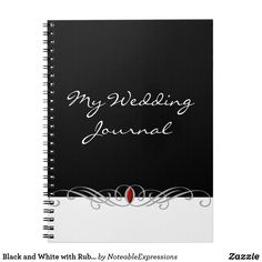 Black and White with Ruby Accent Journal