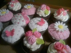 Pink fancy girly cupcakes