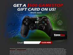 Get a GameStop Gift Card. http://cpaempire.moremoneyeverywhere.com/