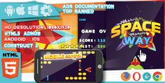 Space Way - HTML5 game. Construct2 (.capx) + mobile + top banner . Space Way - HTML5 game. Construct2 (.capx) + mobile + top banner