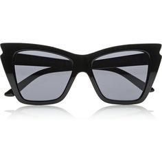 Le Specs Rapture cat-eye acetate sunglasses ($55) ❤ liked on Polyvore featuring accessories, eyewear, sunglasses, glasses, sunnies, black, black cateye sunglasses, black glasses, black cat eye glasses e black cateye glasses