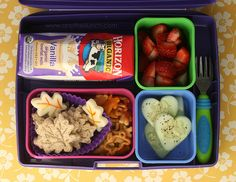 I love making cute little lunches like this one for my daughter she loves it and I just love seeing her face when I give it to her to cute.