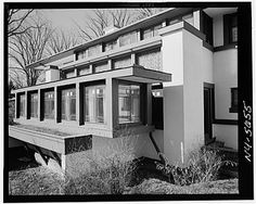 Boynton House by Frank Lloyd Wright, Rochester, NY. Rochester Homes, Rochester New York, Architecture Design, Organic Architecture, Prairie Style Architecture, Prairie House, Prairie Style Houses, Frank Lloyd Wright Homes, New York Style