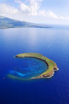 Molokini, Maui, Hawaii ( Or the Mermaid's Secret Lagoon ) need to go back some day!
