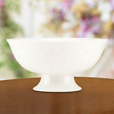 Opal Innocence Carved Footed Serving Bowl by Lenox