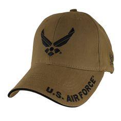 US Air Force Insignia Coyote Brown Ball Cap 3babba99e6ca