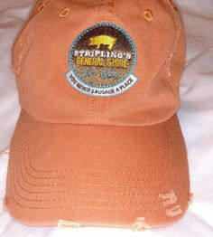 STRIPLINGS-GENERAL-STORE-YOU-NEVER-SAUSAGE-A-PLACE-Hat-Cotton-Baseball-Cap-Pig