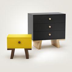 TAO set on Furniture Served Modular Furniture, Deco Furniture, Plywood Furniture, Handmade Furniture, Kids Furniture, Contemporary Furniture, Furniture Making, Furniture Design, Retro Bedside Tables