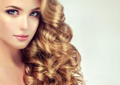 Blondel girl with long wavy hair . Beautiful model with curly hairstyle Stock Photo Girl, Long Curly Hair, Shiny Hair, Hair Conditioner, Curled Hairstyles, Hairdresser, Hair Care, Aloe Vera, Hair Beauty
