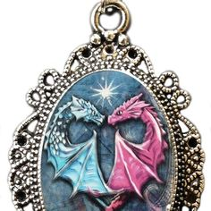 Alkemie Double Dragon Heart Cameo Necklace -- Hope that you actually enjoy our photo. (This is our affiliate link) Cameo Necklace, Initial Necklace, Pendant Necklace, Necklaces With Meaning, Girls Necklaces, Modern Jewelry, Fine Jewelry, Jewellery, Dragons
