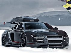 Mountains, Snowboarding, and arguably  the most amazing all-wheel drive car on the planet. Nice!