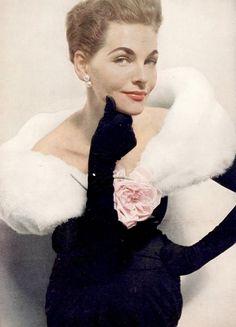 Georgia Hamilton in Balenciaga, Harper's Bazaar, 1953