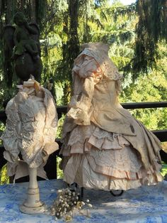 ~~~ Marvelous French Bebe Bustle Dress with Bonnet ~~~ from whendreamscometrue on Ruby Lane