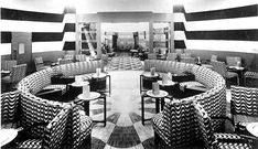 The Art Deco cocktail bar of the Regent Palace Hotel, Op Art, Crown Estate, Vintage Interiors, Deco Interiors, Streamline Moderne, London Landmarks, Piccadilly Circus, French Restaurants, Palace Hotel