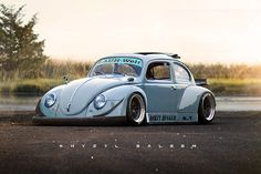 I can't be the only one that's ever wondered what an older, Rauh-Welt Begriff RWB VW Beetle would look like? Volkswagen Karmann Ghia, Volkswagen Beetle Vintage, Beetle Car, Custom Vw Bug, Custom Cars, Iphone Wallpaper Vw, Hd Wallpaper, Vw Cars, Race Cars