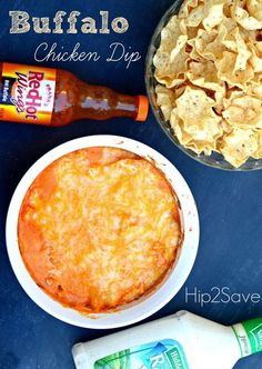 Buffalo Chicken Dip Recipe - super easy to make and super delicious! by Hip2Save (It's Not Your Grandma's Coupon Site!)