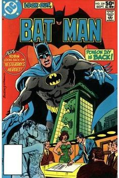 Batman comic with Poison Ivy - Romance - Board Room - Trouble In Green - Dangerous Alliances - Dick Giordano, Richard Buckler Dc Comic Books, Vintage Comic Books, Vintage Comics, Comic Book Covers, Comic Art, Indrajal Comics, Robin Comics, Batman Comics, I Am Batman