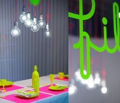 Fluorescent home accessories. Milano #neon #interior design