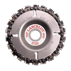Lancelot 4 in. 22-Teeth Steel Chainsaw Blade for Woodcarving