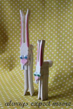 DIY  Handmade : DIY Clothespin Bunnies