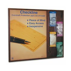wood wall frame with brochure holder